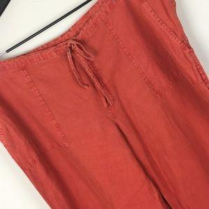 Victoria's Secret Wide Leg Linen Pants - Spicy Red